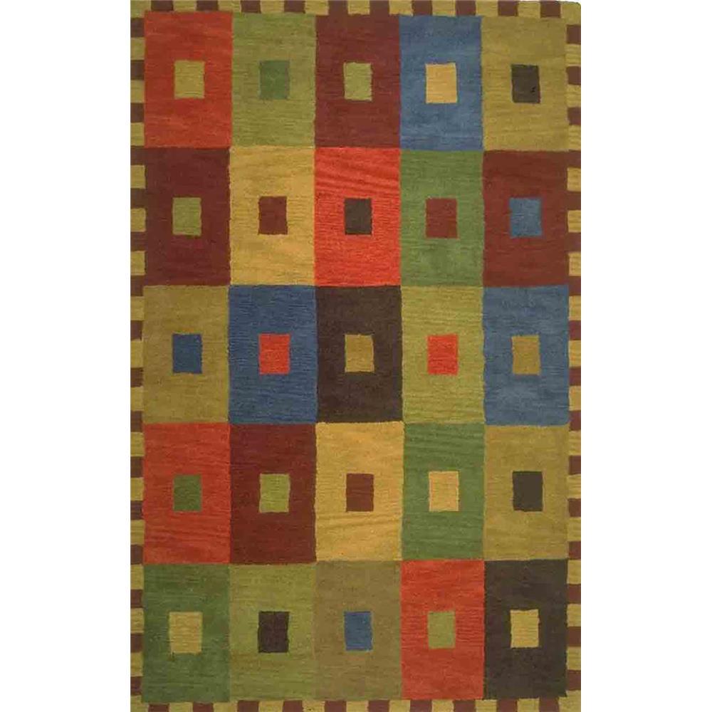 """Liora Manne INC46944044 9440/44 Squares Multi - 42"""" X 66"""""""
