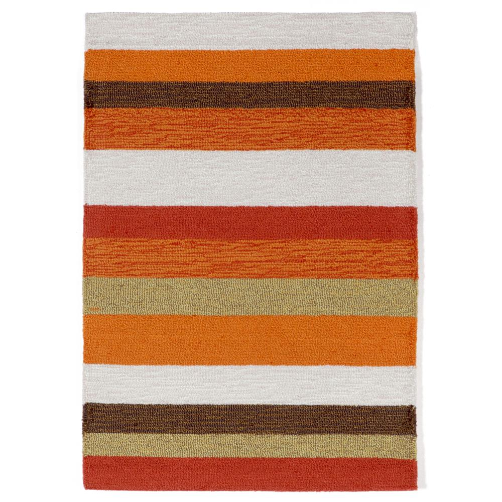 "Liora Manne RVL23190017 1900/17 Stripe Orange - 24"" X 36"""