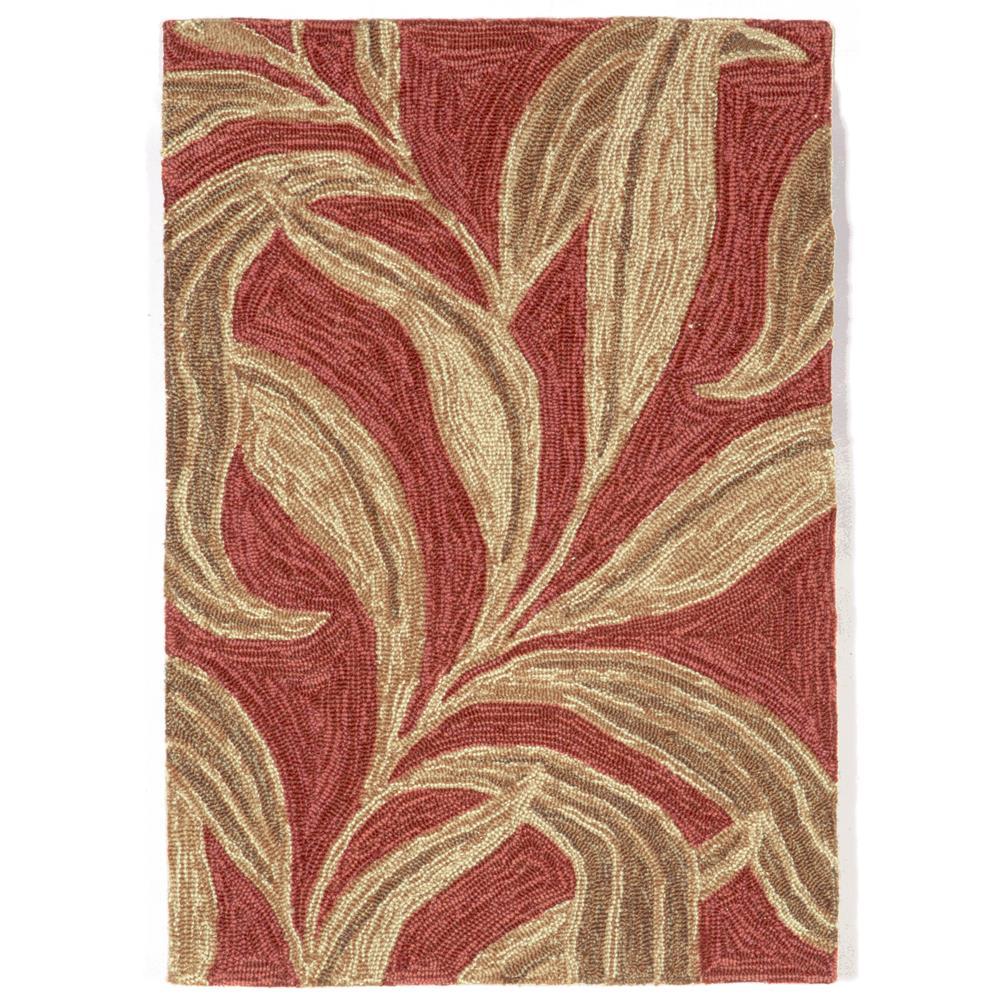 """Liora Manne RVL23190224 1902/24 Leaf Red - 24"""" X 36"""""""