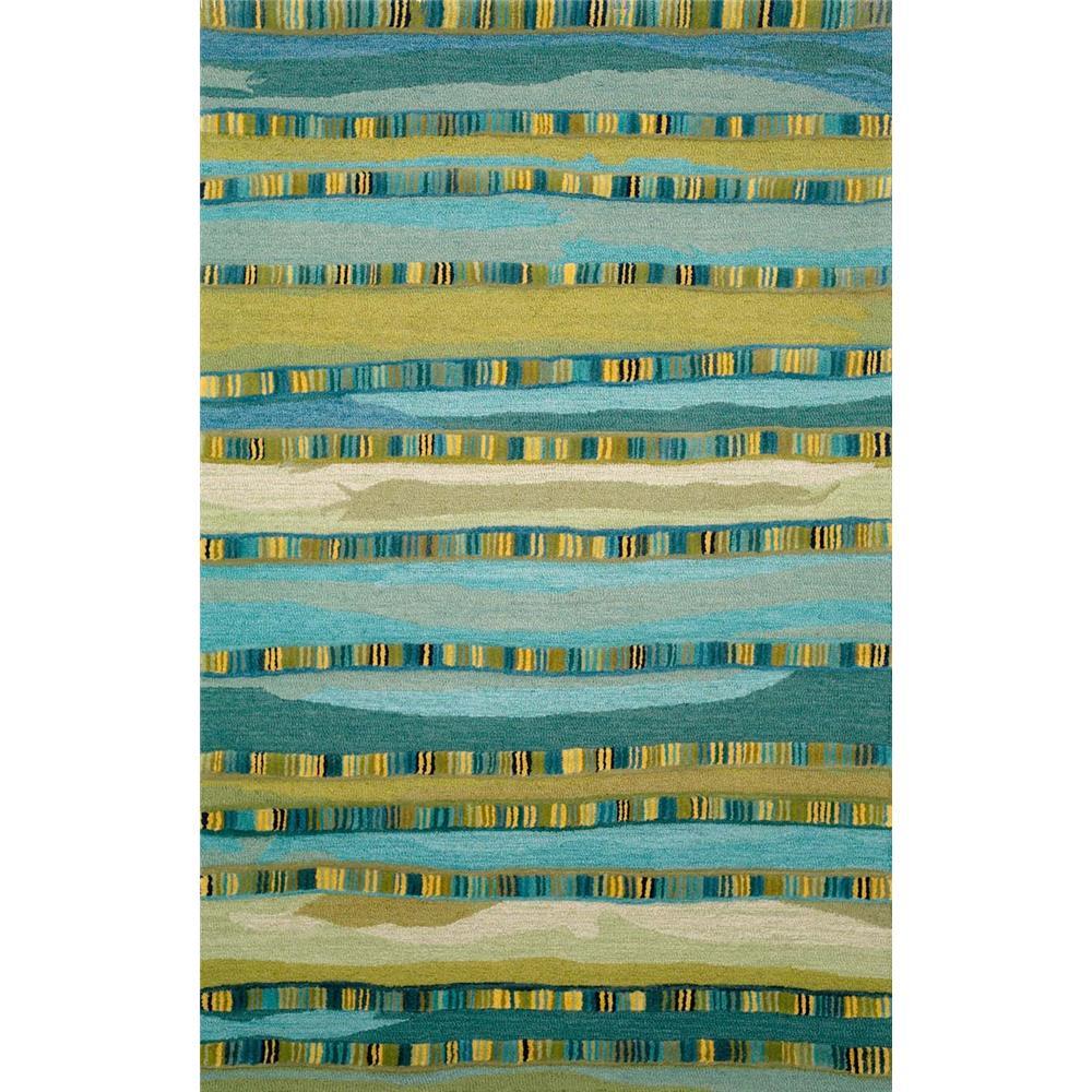 "Liora Manne SEV46962503 9625/03 Mosaic Stripe Blue - 42"" X 66"""