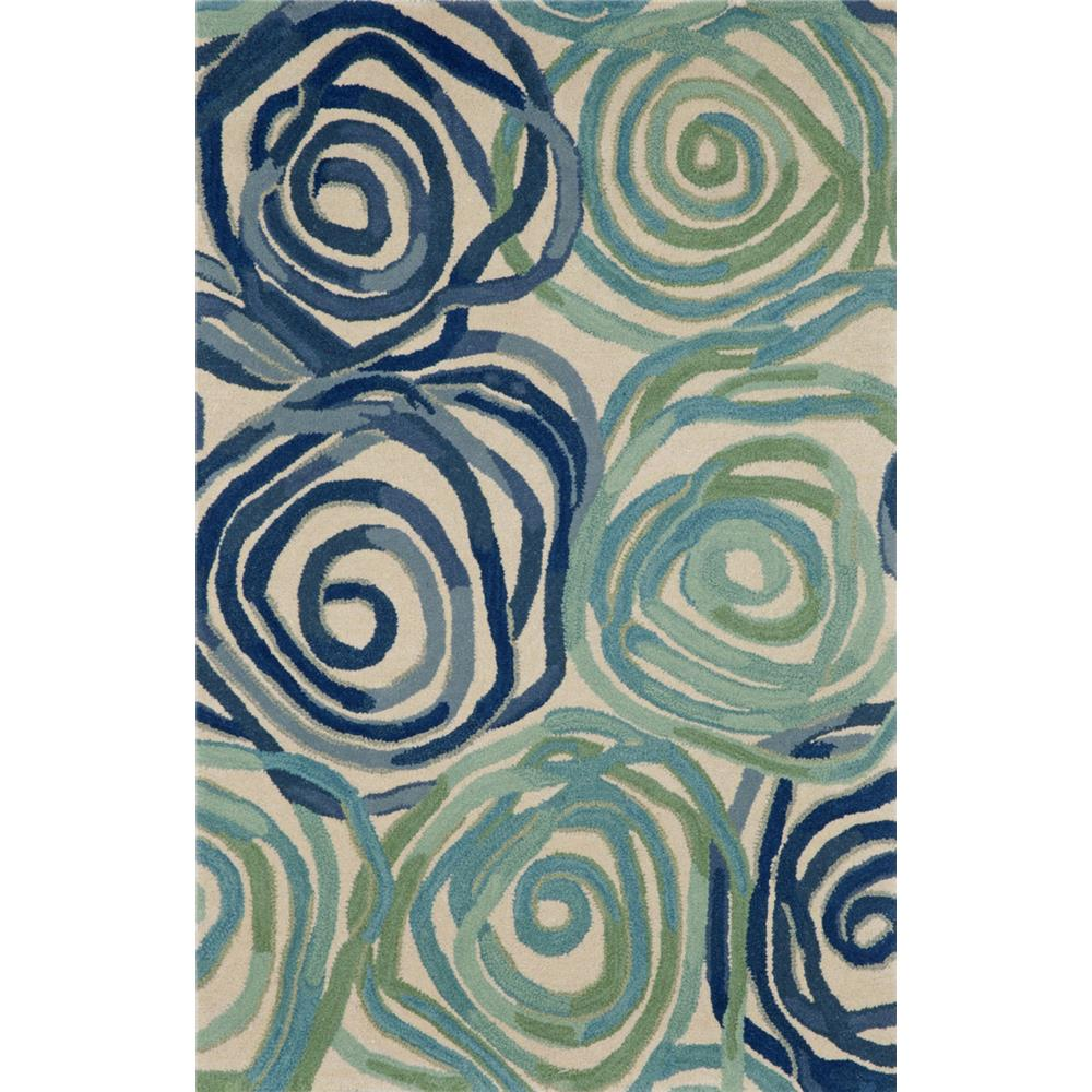 """Liora Manne 8106/22 RAMBLING ROSE PLAYA Hand Tufted Indoor Area Rug in 42""""X66"""""""