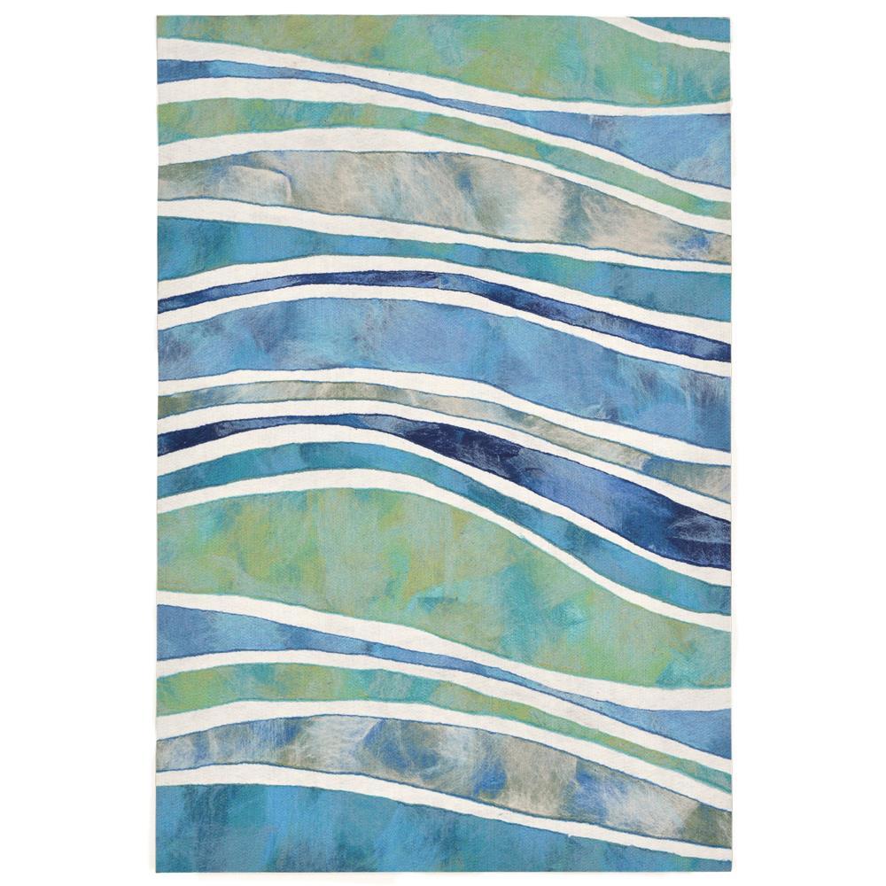 """Liora Manne 3126/04 WAVE OCEAN Hand Crafted Indoor/Outdoor Area Rug in 24""""X36"""""""