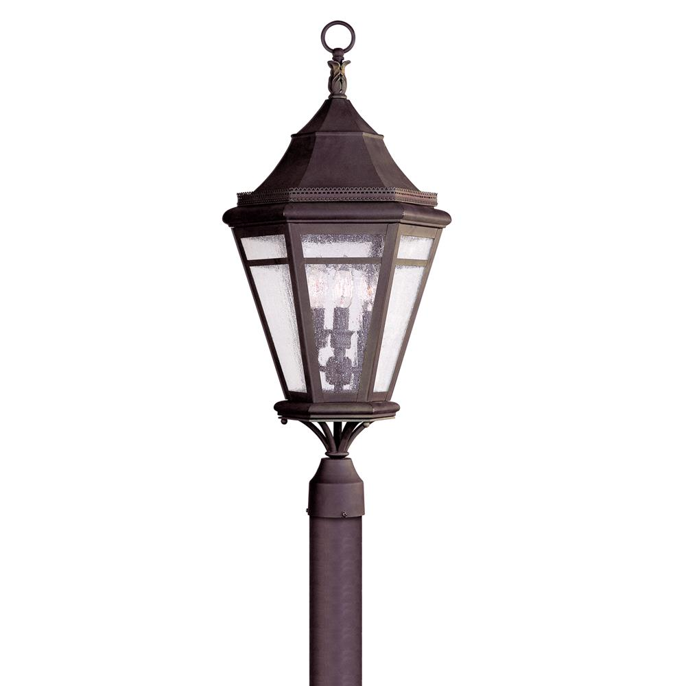Troy Lighting P1274NR Morgan Hill 3 Light Large Post Lantern in Natural Rust
