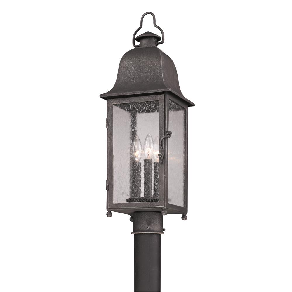 Troy Lighting P3215 Larchmont 3 Light Medium Post Lantern in Aged Pewter
