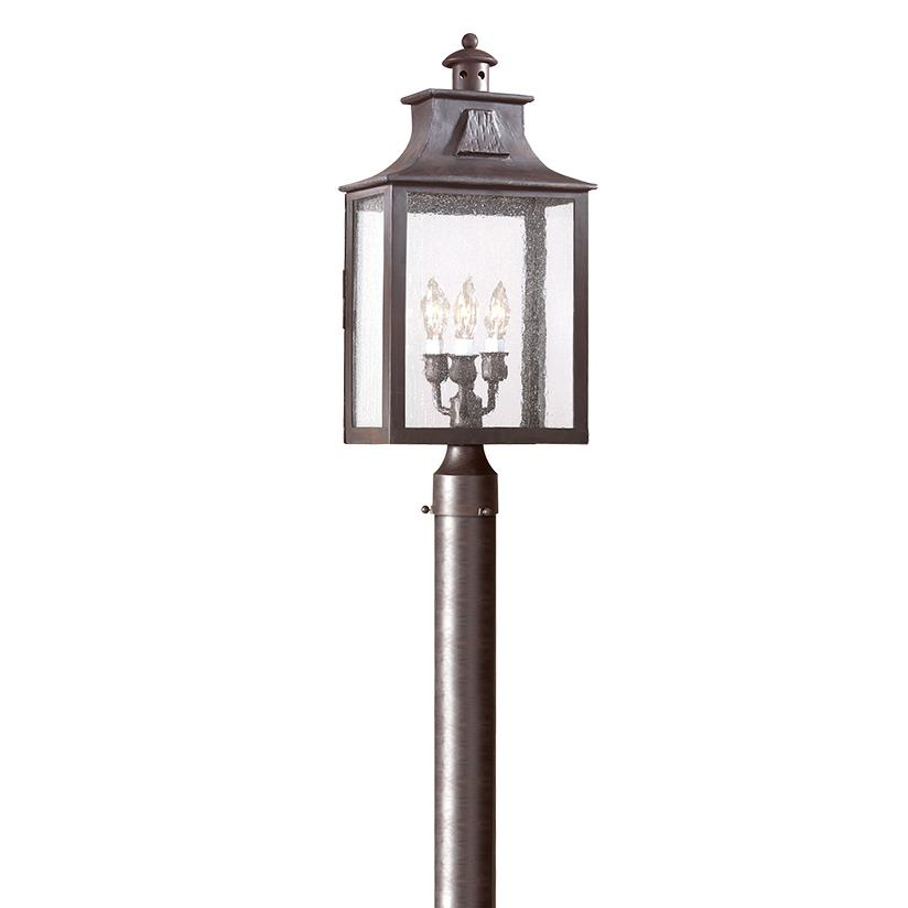 Troy Lighting PCD9006OBZ Newton 3 Light Large Post Lantern in Old Bronze