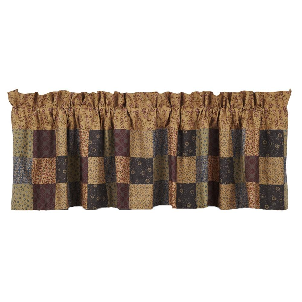 VHC Brands 14347 Lewiston Patchwork Valance Lined 16x72