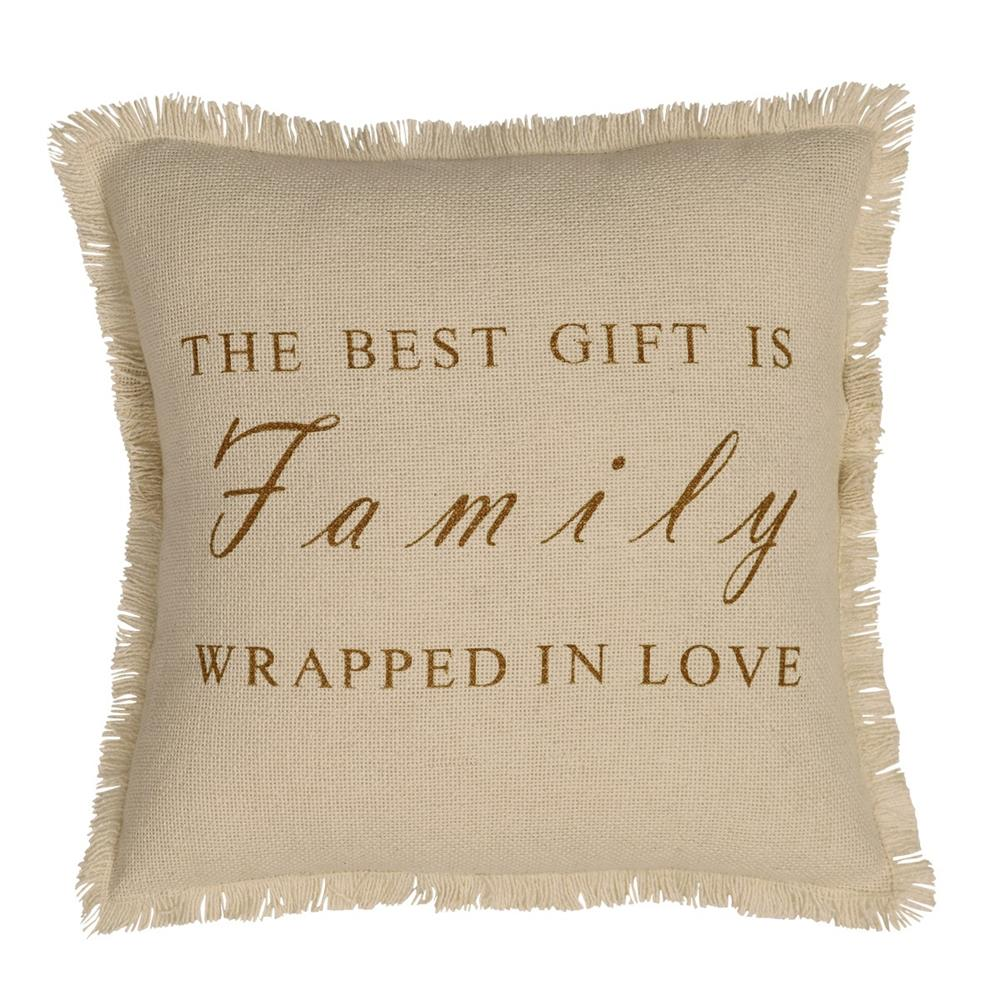 VHC Brands 18358 Creme Burlap Pillow Cover Family 16x16