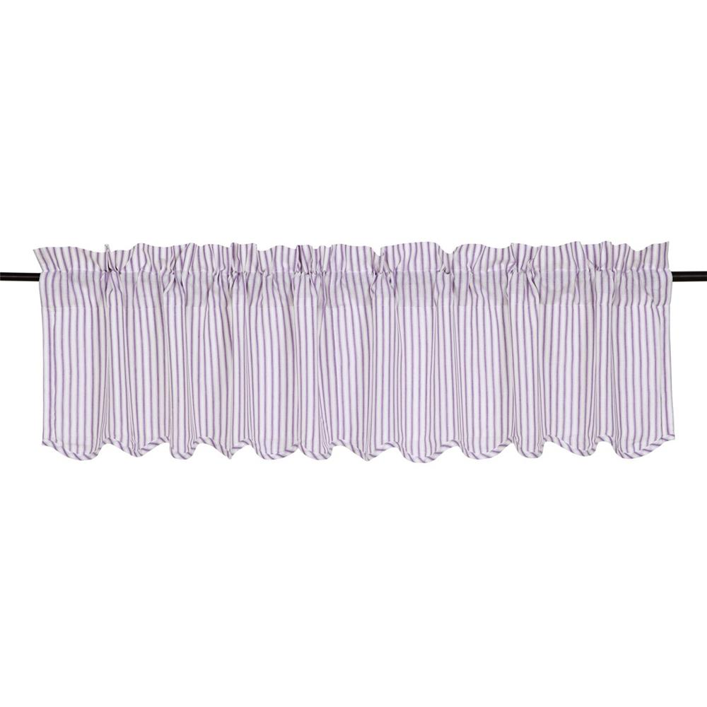 VHC Brands 26130 Josephine Orchid Scalloped Valance 16x72
