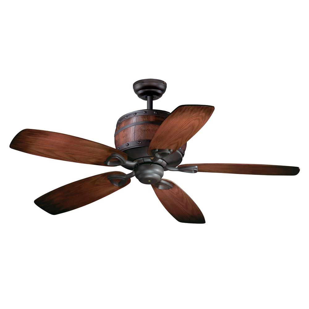 "Vaxcel Lighting FN52455OBB Cabernet 52"" Ceiling Fan Oil Burnished Bronze"
