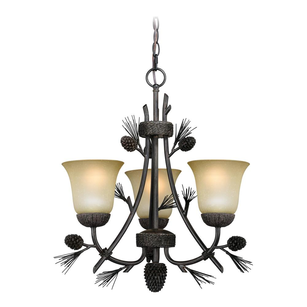 Vaxcel Lighting H Poirot Chandelier New Bronze