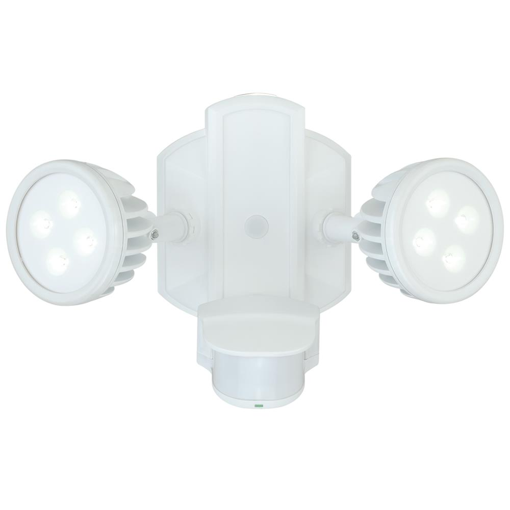 Vaxcel Lighting T0068 Lambda Dualux® Outdoor Security Wall Light White