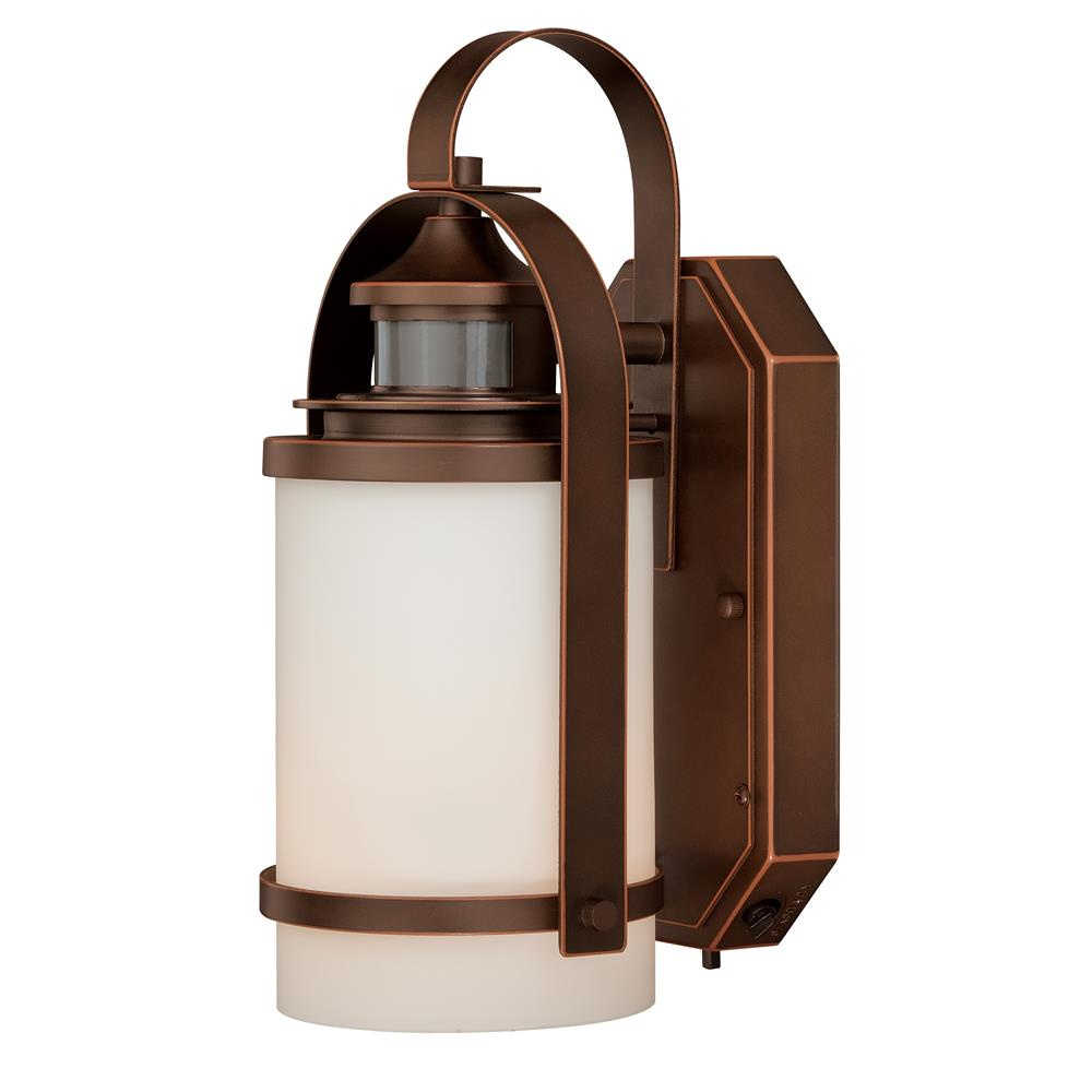 "Vaxcel Lighting T0069 Weston Dualux® 6-1/2"" Outdoor Wall Light Burnished Bronze"
