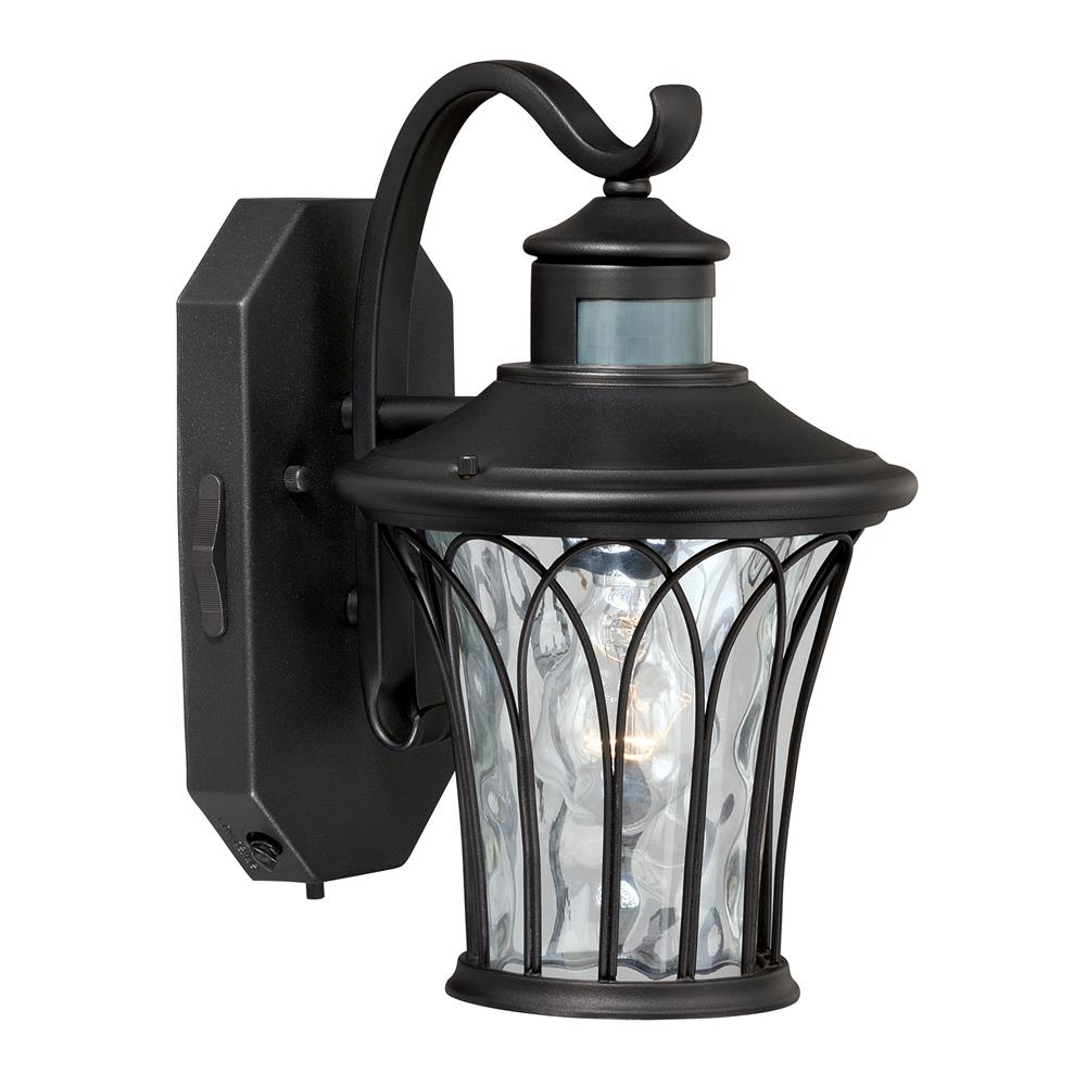 "Vaxcel Lighting T0123 Abigail Dualux® 7.5"" Outdoor Wall Light Textured Black"