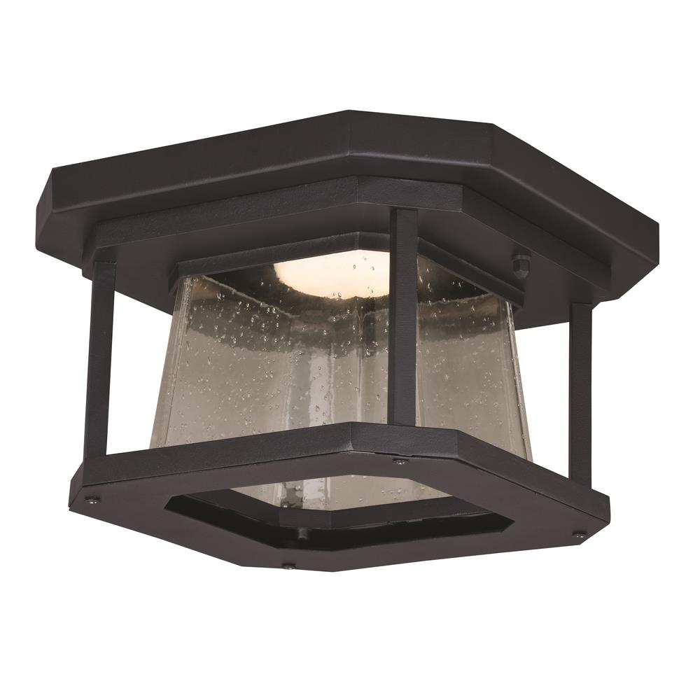 Flush Mount Outdoor Lights Harbour 15 In W Matte Black