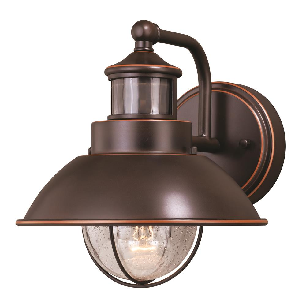 "Vaxcel Lighting T0252 Harwich Dualux® 8"" Outdoor Wall Light Burnished Bronze"