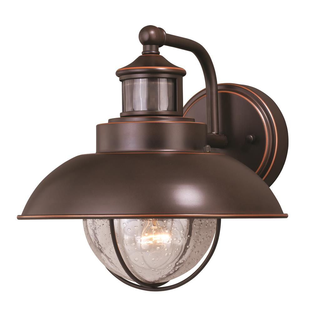 "Vaxcel Lighting T0263 Harwich Dualux® 10"" Outdoor Wall Light Burnished Bronze"