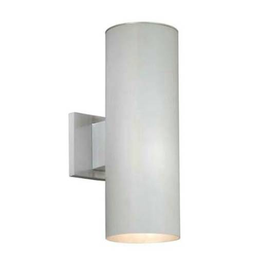 Vaxcel Lighting CO-OWB052SL Chiasso 2 Light Outdoor Wall Sconce in Satin Aluminum