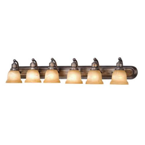 Vaxcel Lighting LS-VLD106PZ Lasalle 6L Vanity Parisian Bronze
