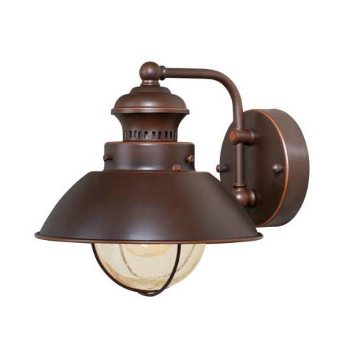 Vaxcel Lighting OW21581BBZ Nautical 8 in. 1 Light Outdoor Wall Sconce Light in Burnished Bronze