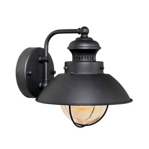 Vaxcel Lighting OW21581TB Nautical 8 in. 1 Light Outdoor Wall Sconce Light in Textured Black