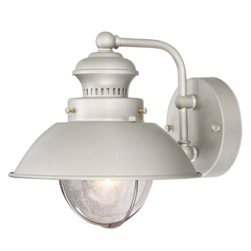 Vaxcel Lighting OW21593BN Nautical 8 in. 1 Light Outdoor Wall Sconce Light in Brushed Nickel