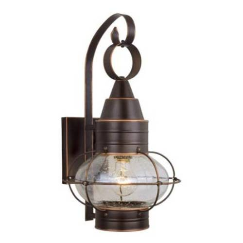 Vaxcel Lighting OW21881BBZ Nautical 8 in. 1 Light Outdoor Wall Sconce Light in Burnished Bronze