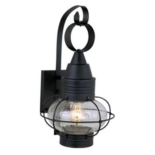 Vaxcel Lighting OW21881TB Nautical 8 in. 1 Light Outdoor Wall Sconce Light in Textured Black
