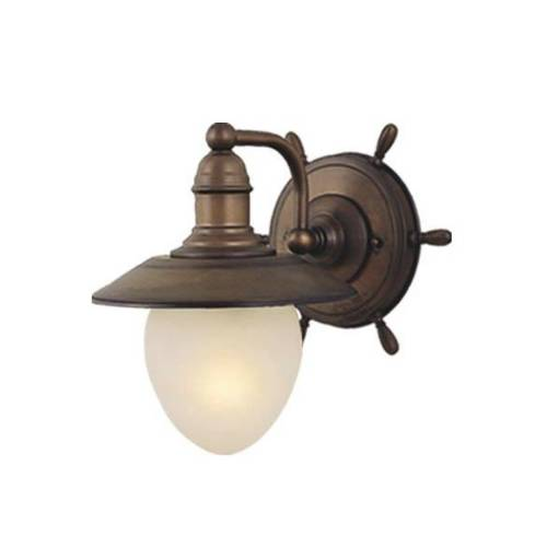 Vaxcel Lighting WL25501RC Nautical 1 Light Indoor Wall Sconce in Antique Red Copper