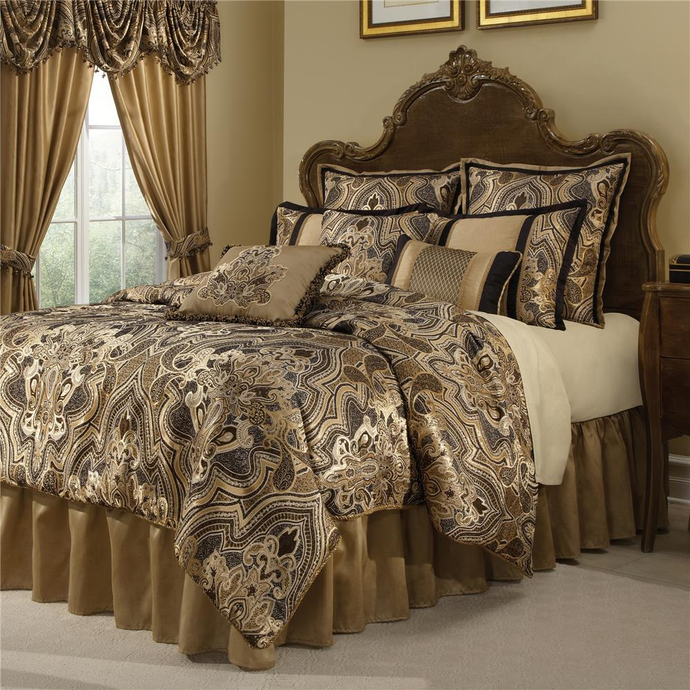 Veratex 600081 BLACK/GOLD COMFORTER SET