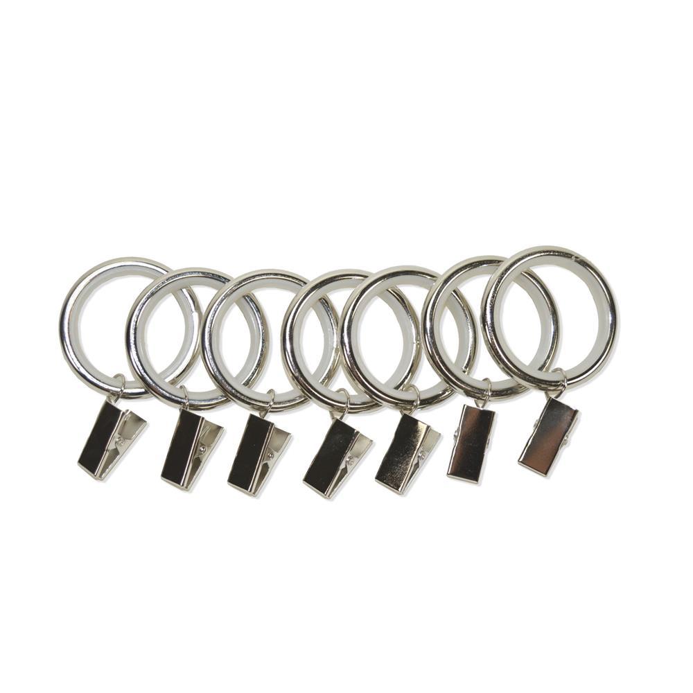 Versailles UR02-903 Silent Glide Nylon lined Clip Ring  for 22/25/28mm Rod – set of 7 pcs