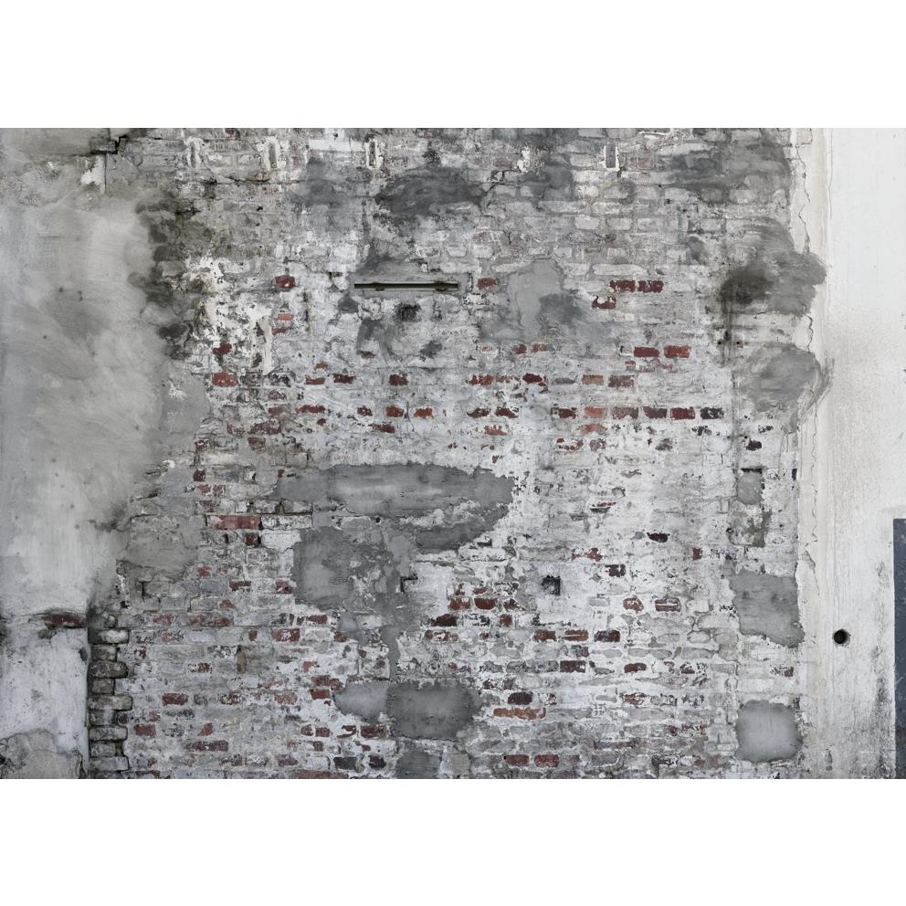 Washington Wallcoverings 445404 Factory II Distressed Red Brick Wall Mural 13.7 Ft By 10 Ft