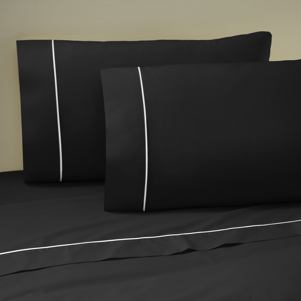 West Point Home 1A14646 Martex Pipeline Standard Ebony Pillowcase Pair