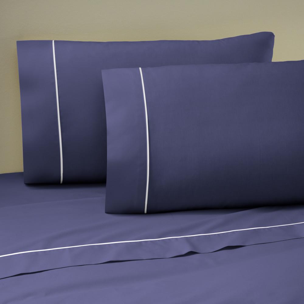 West Point Home 1A14654 Martex Pipeline Standard Navy Pillowcase Pair