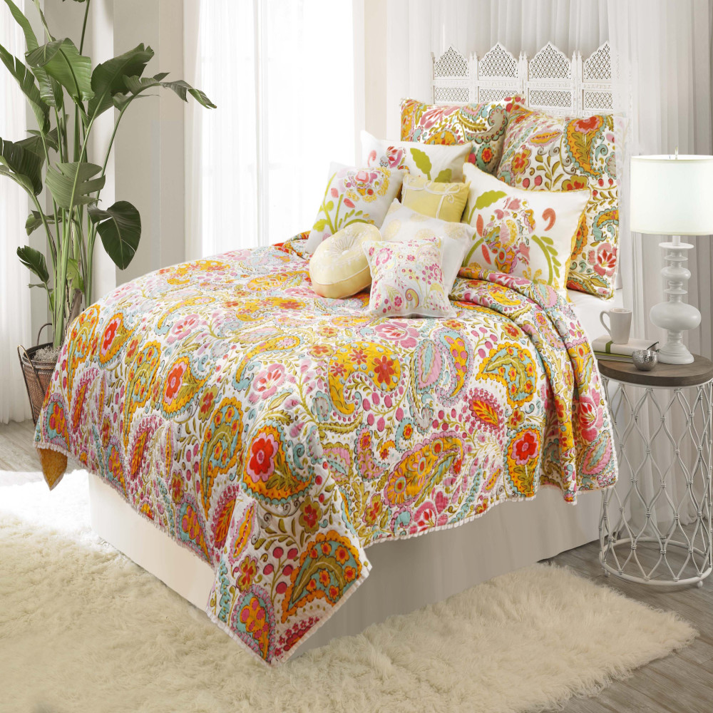 West Point Home 1C04340 Dena Home Sun Beam Full/Queen Reversible Quilt