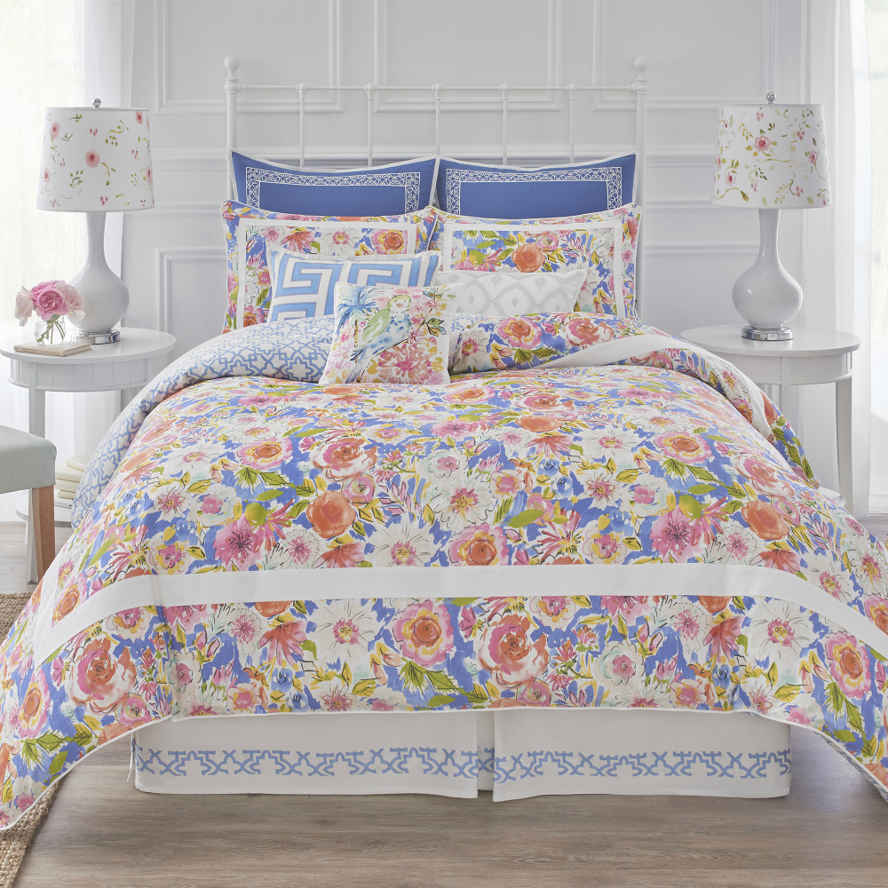 West Point Home 1C09752 Dena Home Chinoiserie Garden Full/Queen Duvet Cover