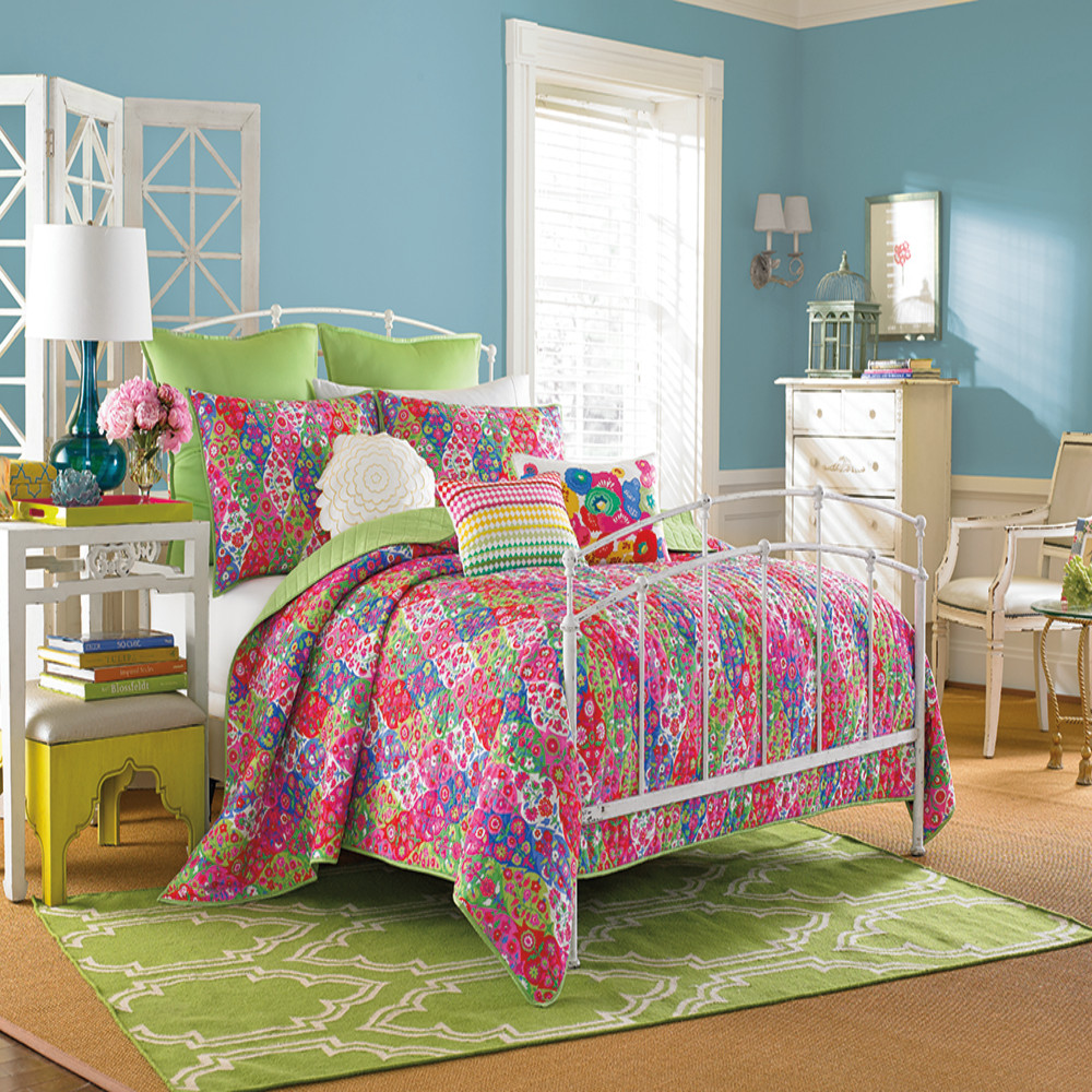 West Point Home 1C99795 Collier Campbell Paradiso Twin Pink Quilt Set
