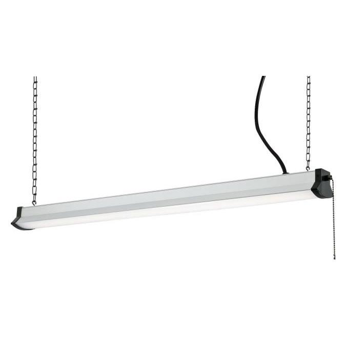 """Westinghouse 6321600 36"""" LED Shop Light Silver Finish with Frosted Lens in Silver"""