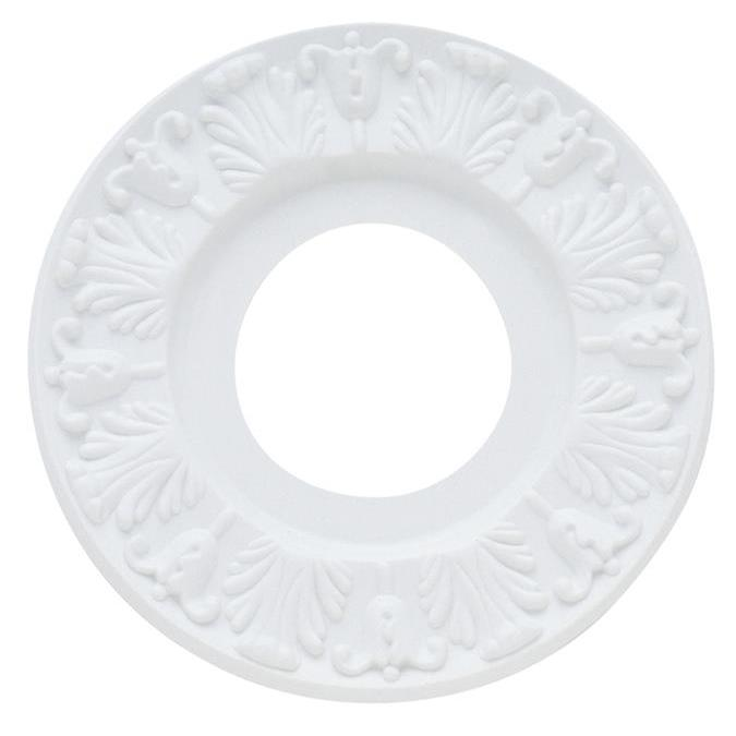 Westinghouse 7702700 Victorian White Finish Molded Plastic Ceiling Medallion in White