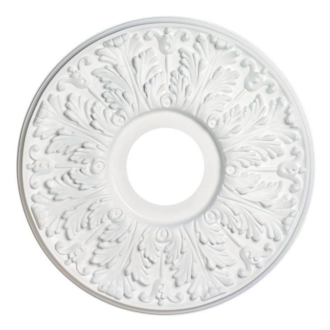 Westinghouse 7702800 Victorian White Finish Molded Plastic Ceiling Medallion in White
