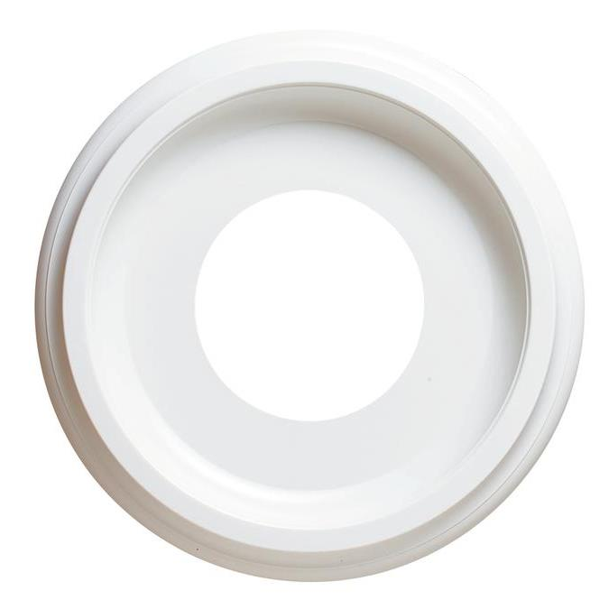 Westinghouse 7703700 Smooth White Finish Molded Plastic Ceiling Medallion in White