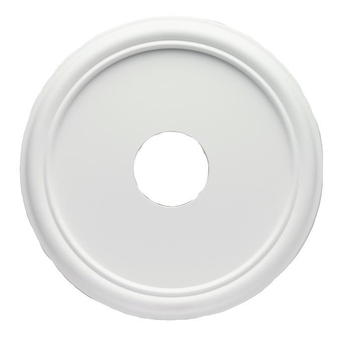 Westinghouse 7773200 Smooth White Finish Molded Plastic Ceiling Medallion in White