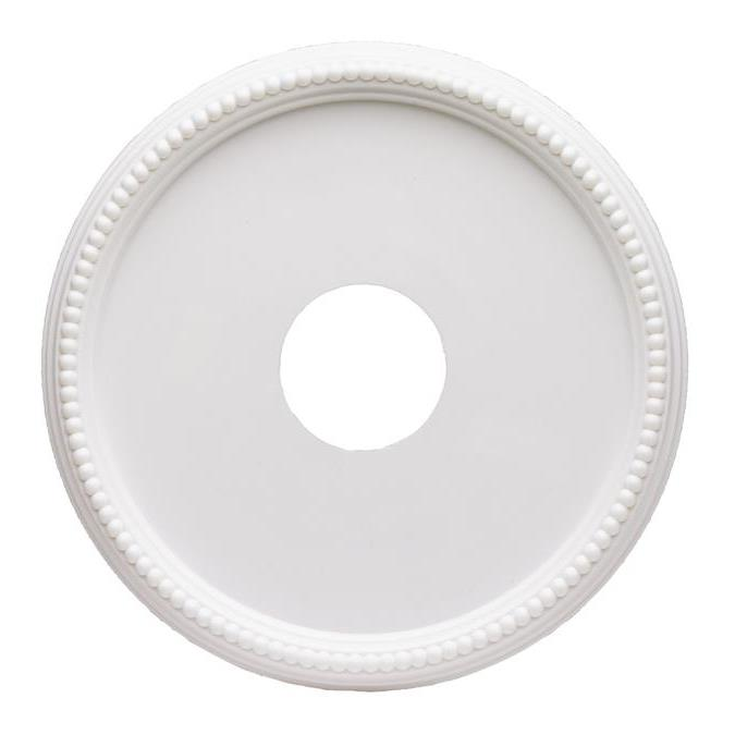 Westinghouse 7773300 Round Beaded White Finish Molded Plastic Ceiling Medallion in White