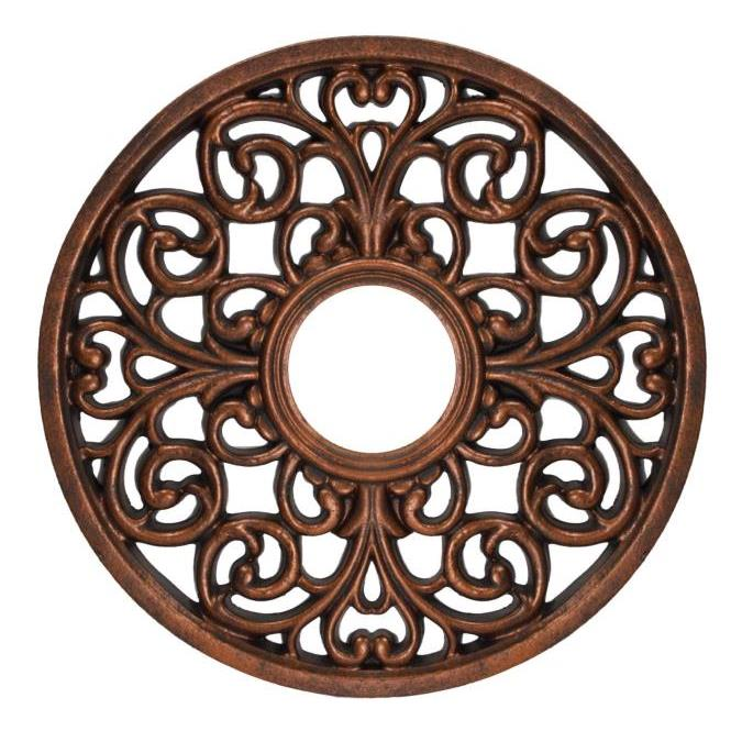 Westinghouse 7776400 Round Parisian Scroll Antique Bronze Finish Polyurethane Ceiling Medallion in Antique Bronze