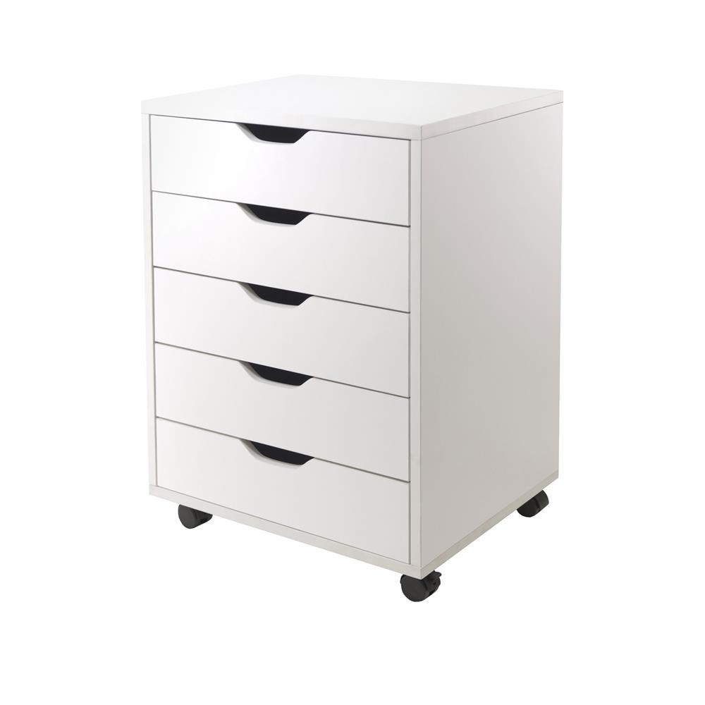 Winsome 10519 Halifax Cabinet for Closet / Office, 5 Drawers in White