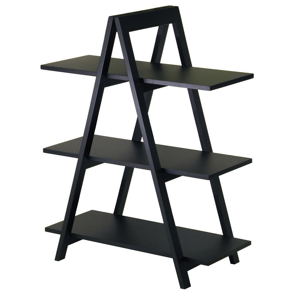 Winsome 20130 A-Frame 3-Tier Shelf in Black