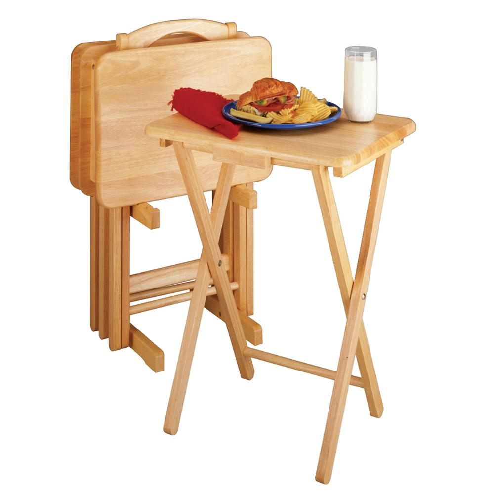 Winsome 42520 5pc TV Table Set, Rectangular in Natural