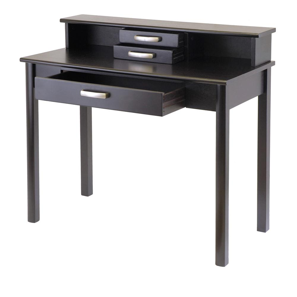 Winsome 92273 Liso 2pc Home Office Set, Writing Desk with Hutch in DarkEspresso