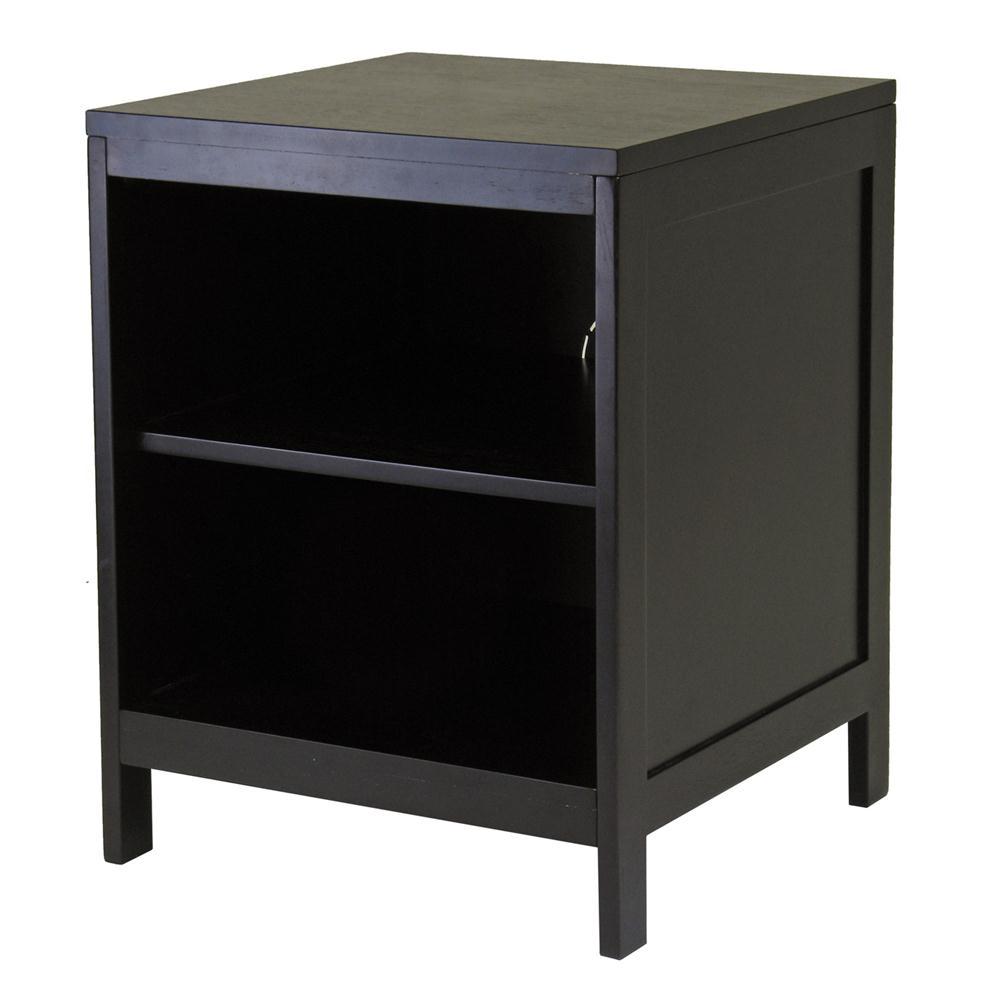 Winsome 92619 Hailey TV Stand, Modular, Open shelf, Small in DarkEspresso