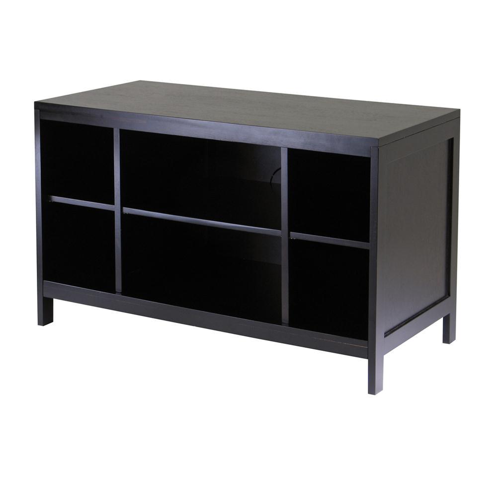 Winsome 92640 Hailey TV Stand, Modular, Open shelf, Large in DarkEspresso