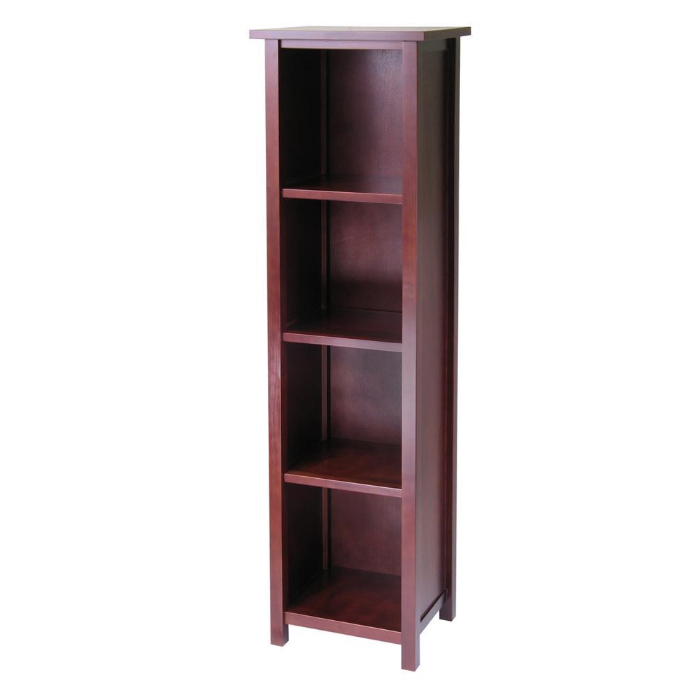 Winsome 94416 Milan Storage Shelf or Bookcase 5-Tier, Tall in AntiqueWalnut